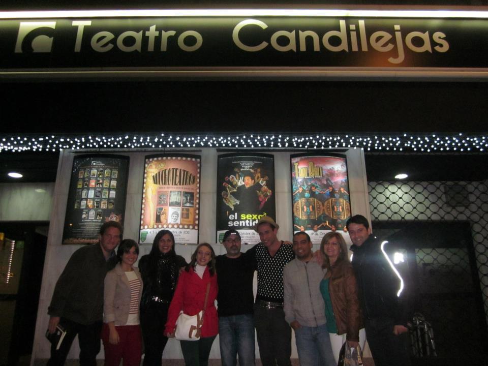 Junto al actor Joel Angelino en Albacete