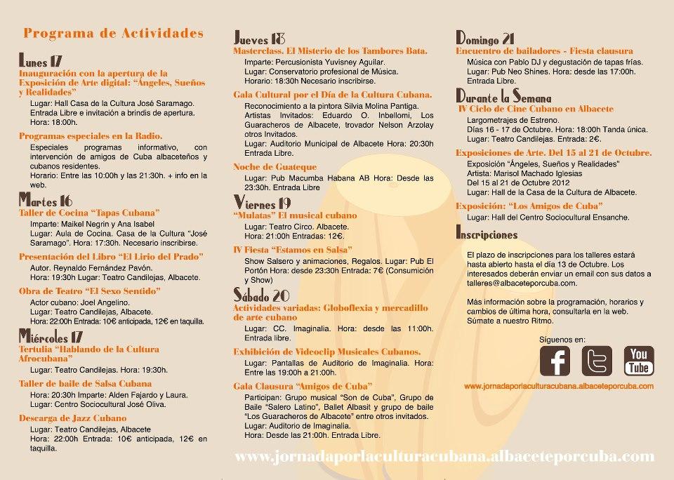 IV Jornada Cubana Albacete