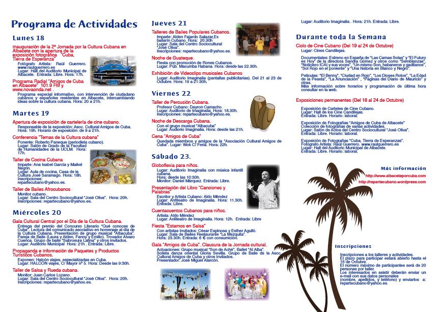 Triptico 2 jornadas cubanas 2010